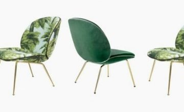 Green beetle lounge chair