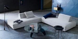 grey playground sofa with adjustable back-blocks