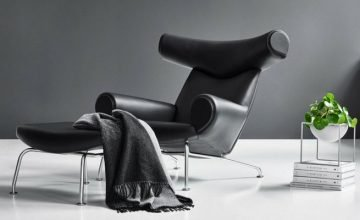 black ox lounge chair