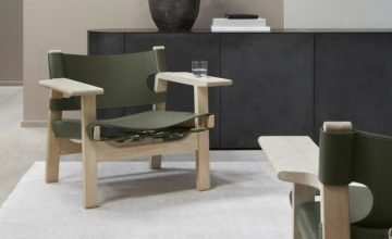 spanish lounge chair by fredericia