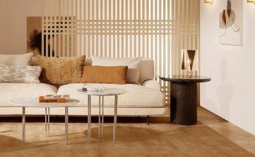 IOI Coffee Table White Carrara Marble and Chrome Legs