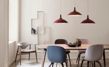Gubi 1965 Pendant Lamp in Chianti Red Semi Matte