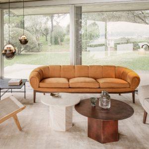 Gubi Croissant Sofa in Leather