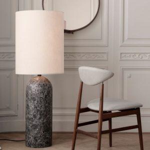 Gubi Gravity Floop Lamp XL in grey marble