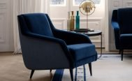 Gubi CDC.1 Lounge Chair in Fabric Upholster