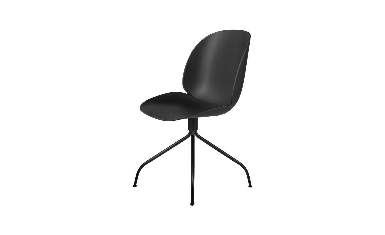 GUBI - Beetle Meeting Chair Black Swivel Base