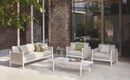 Dipano Outdoor Switch Oatmeal (Seagul) 2.5 Seater, Lounge Chair and Ceramic top Coffee Table - Danish Design Co Singapore