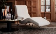 GUBI - GMG White Chaise Longue
