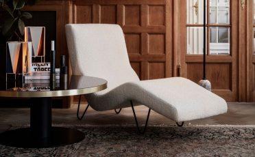 GUBI GMG White Chaise Longue - Danish Design Co Singapore