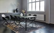 Houe - Flak Dining Chair Swivel - with Float dining table