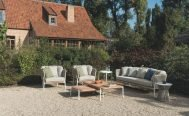 Diphano Ombre - Lounge Chair and 3 Seater Sofa with White PCA frame, Mineral Rope and Tundra Seat Cushion