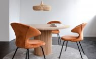 Umage - Time Flies Dining Chair - Rusty upholstery and Black Legs