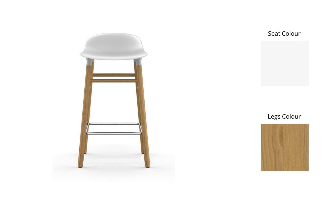 Normann Copenhagen Form Bar Stool White-Oak - Danish Design Co Singapore