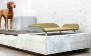 MiaCara Letto Dog Day Bed in Mottled Saffron
