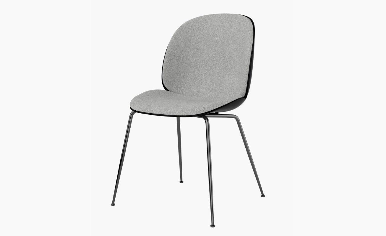 Beetle Dining Chair Silver Black Matte Legs 2