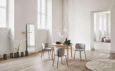 Bolia Pleated Dining Chair beige- Danish Design Co Singapore