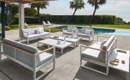 Diphano Outdoor Sectional Sofa Landscape Teak - Danish Design Co Singapore