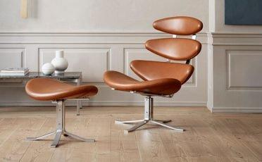 Erik Jorgensen Corona Classic Lounge Chair - Danish Design Co Singapore