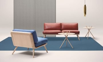 Fredericia 2 Seater Spine Lounge Suite Sofa