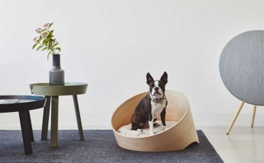 MiaCara Covo Dog Lounge in Ash Hemp
