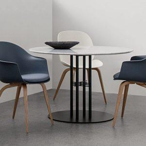 Gubi Bat Dining Chair - Wood Legs - Danish Design Co