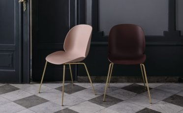 Gubi Un-Upholstered Beetle Dining Chair - Metal - Danish Design Co