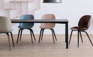 Gubi Un-Upholstered Beetle Dining Chair - Wood - Danish Design Co Singapore