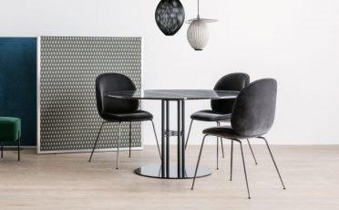 Gubi Upholstered Beetle Dining Chair - Metal 2