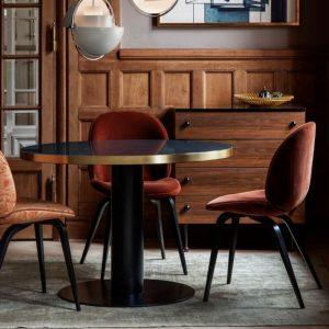 Gubi Upholstered Beetle Dining Chair wood - Danish design co 3