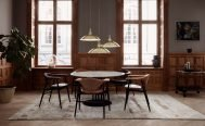 Masculo Dining Chair Upholstered - Wood Legs