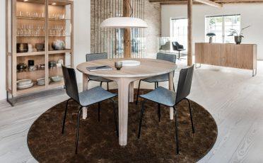 Skovby 801 Dining Chair black fabric