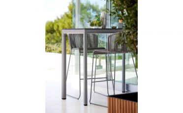 Moments Outdoor Bar Chair with Grey Rope