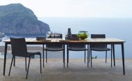 Core Outdoor Dining Table - in Grey Aluminium Frame