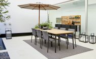 Core Outdoor Dining Table - in Taupe Aluminium Frame
