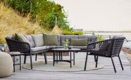 Ocean Outdoor Lounge Chair and Sofa with the Optional Dark Grey