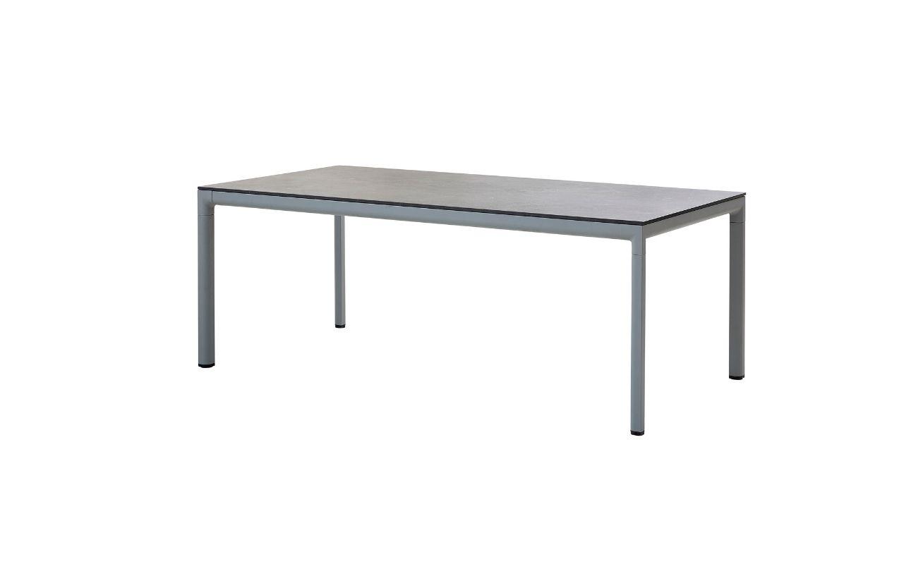 Drop Outdoor Dining Table with Light Grey Aluminium frame