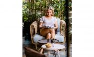 Nest Outdoor Lounge Chair with Natural Cane-line Weave - Danish Design Co Singapore