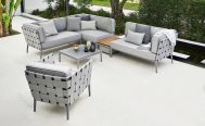 Conic Outdoor Lounge Chair and Sofa in Light Grey Danish Design Co Singapore