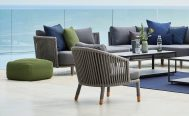 Moments Outdoor Lounge Chair with Grey Soft Rope Frame - Danish Design Co Singapore