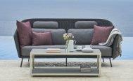 Cane-line Mega Outdoor Sofa in Dark Grey with Light Grey Cushions - Danish Design Co Singapore