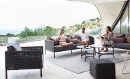 Encore 3 seater outdoor sofa in black aluminium - Danish Design Co Singapore