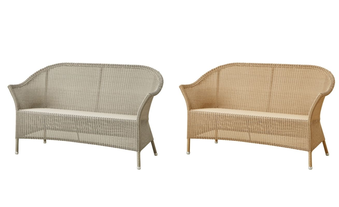 Lansing 3 seater outdoor sofa in Natural and taupe cane - Danish Design Co Singapore