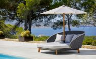 Classic Off-White Parasol With the Peacock Grey DayBed Danish Design Co Singapore