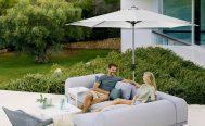 Sunshade Parasol in Dusty White Danish Design Co Singapore