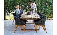 Endless Rectangle Teak Outdoor Dining Table Danish Design Co Singapore