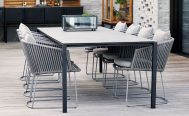 Dark Grey Moments Outdoor Dining Chair With Light Grey Cushions - Danish Design Co Singapore