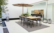 Classic Parasol place next to the Core Dining Table Danish Design Co Singapore