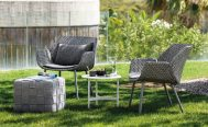 Black Vibe outdoor Lounge Chair with a black cushion - Danish Design Co Singapore
