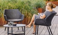 Black Vibe outdoor Lounge Chair with a black cushion Danish Design Co Singapore