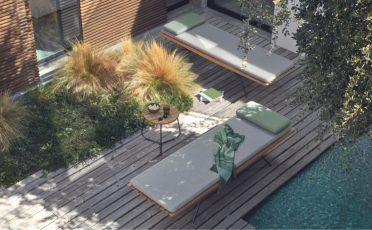 Manutti San Outdoor Lounger Danish Design Singapore
